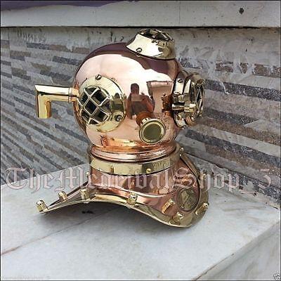 Antique U.S Navy Brass Divers Diving Helmet Mark V Mini Vintage handmade Gift 3