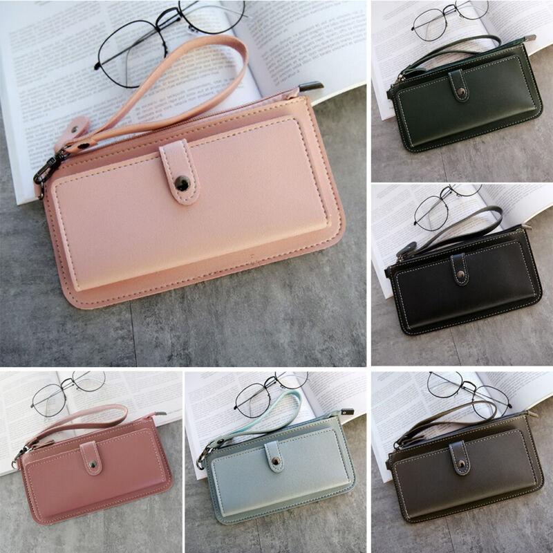 Women Clutch Leather Wallet Long Card Holder Phone Bag Case Purse lady Handbags_ 2