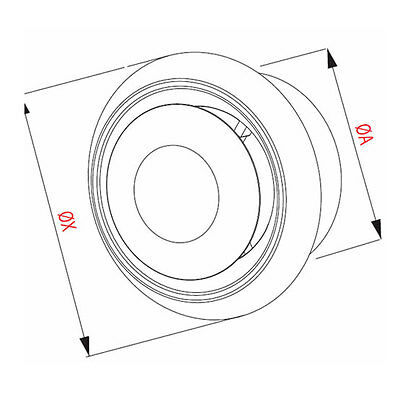 4 Airtech Air Vent Ceiling Grille Outlet Inlet Ventilation Fan Duct