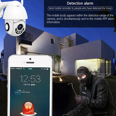 AU Wireless 1080P WIFI IP Camera WHITE Outdoor CCTV HD Home Security IR Cam 3