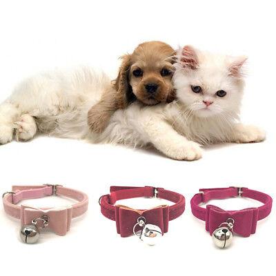 Pet Bell Collar Cat Kitten Collar Bow Tie Neck Chain Supply Accessory Tool Kit 8