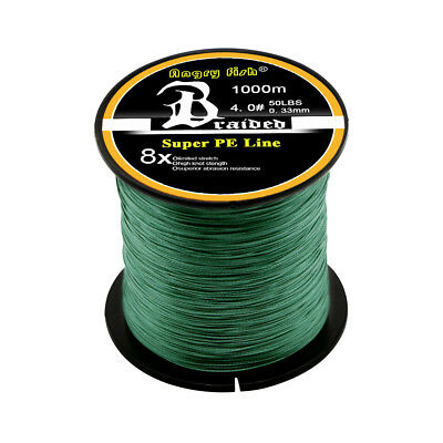 Super Strong PE Spectra Braided Fishing Line 4/8 Strands 300/500/1000M 12-100LB 10