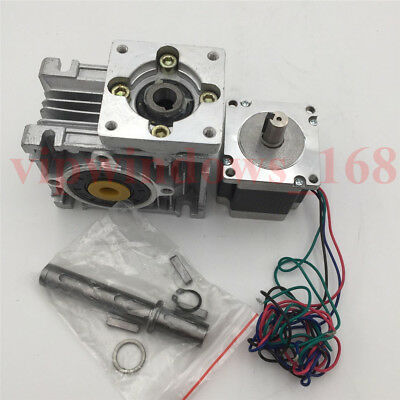 Nema23 Stepper Motor 11Nm Worm Gearbox 10:1 Speed Reducer Kit CNC Router Milling 8