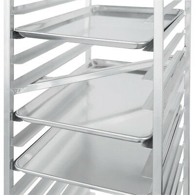 "(12-Pack) 18"" x 26"" Full Size Aluminum Baking Bun Pan / Sheet Pans - Wire in Rim"