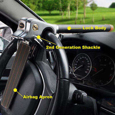 Anti Theft Lock Car Vehicle Top Mount Steering Wheel Security Airbag + 3 Keys 4