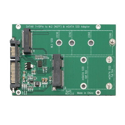 mSATA / M2 NGFF SSD to SATA Converter Adapter Combo Card M.2 2 In 1 3