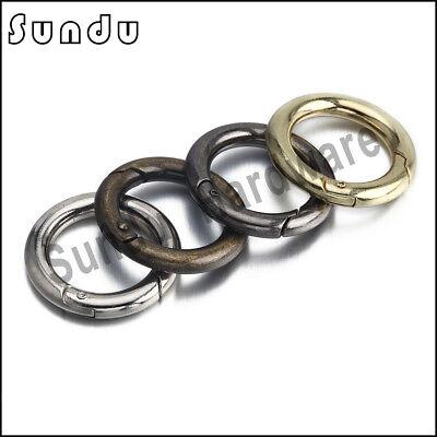 Rund Schnapphaken Karabinerhaken Verbinder Schlüssel Ring 15-50 mm 1 bis100Stück 6