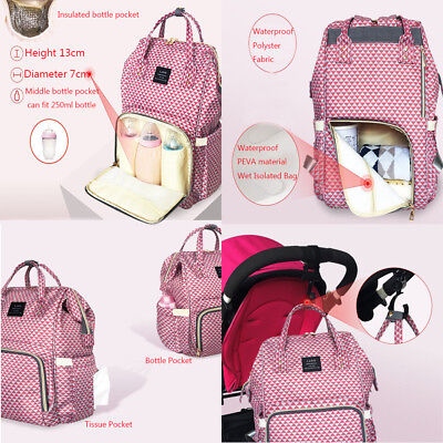 Multifunctional GENUINE LAND Large Baby Diaper Backpack Mummy Nappy Changing Bag 6