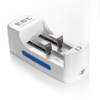 4x EBL 18650 Battery 3000mAh Li-ion Rechargeable Batteries + 10440 16340 Charger 7