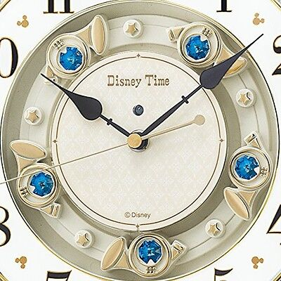 SEIKO CLOCK wall clock Mickey Mouse radio analog trick 12 songs melody FW580W 3