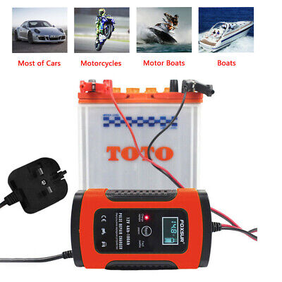 Car Battery Charger 12V 5A LCD Intelligent Automobile Motorcycle Pulse Repair UK 3