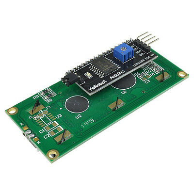 IIC I2C TWI SP​​I Serial Interface 1602 16X2 Character LCD Anzeige Blue AIP 4