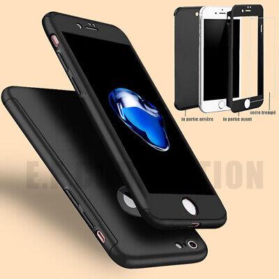Coque Etui 360 Intégrale Pour IPHONE X/8/7/6 XR XS MAX + Film Verre trempé écran 8