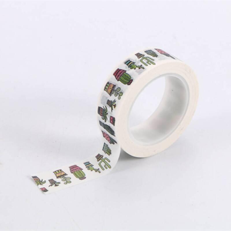 DIY Cute Cactus Washi Tape Decorative Adhesive Tape Masking Diary Decoration 2