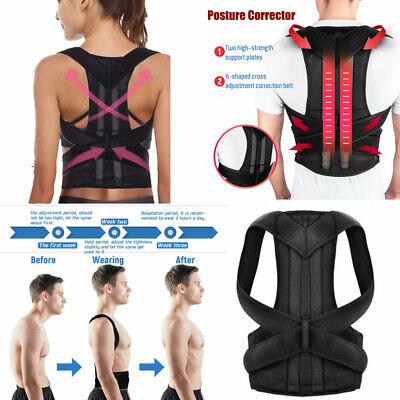 Posture Corrector Brace Women Men Full Back Support Clavicle Shoulder Belt Body 2
