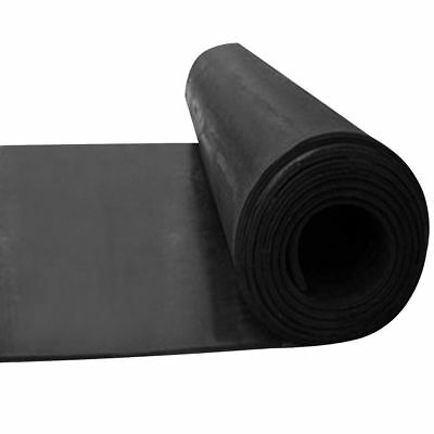 Smooth Matt Black Rubber Flooring Matting for Garage, Van or Car Roll Mat 3