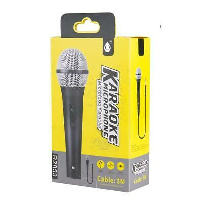 Microfono Dinamico per Musica VOCE Karaoke Canto con CAVO Filo XLR 3mt 4