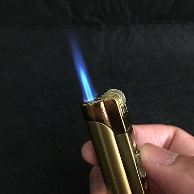 Lot 5pcs  Windproof  Jet  Torch Lock Flame Cigar Cigarette Flint Lighter Gold 7
