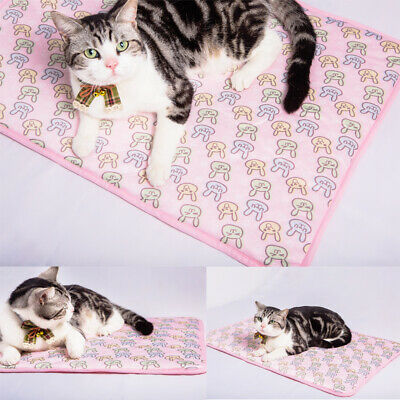 Indoor Summer Cat Dog Self-Cooling Mat Hot Weather Puppy Sleeping Bed Chihuahua 9