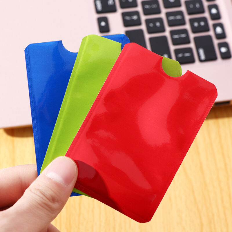 10PCS Credit Card Protector Secure Sleeve RFID Blocking ID Holder Foil Shield 10
