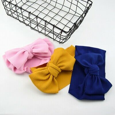 Newborn Baby Girl Big Bow Beanie Hat Cap Boy Cotton Headband Kids Hair Accessory 10