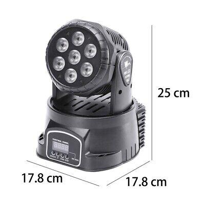 2x 105W RGBW Wash 7LED 9/14CH DMX Mini Moving Head Stage Light Lighting DJ Disco 10