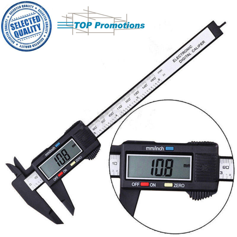 150mm Messwerkzeug Lineal LCD Gauge Micrometer Digital Vernier Bremssattel neu