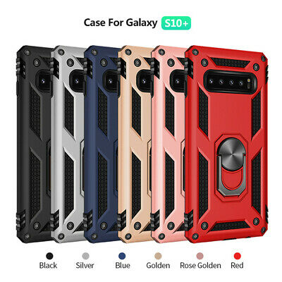 For Samsung S10e S10 Plus S9 S8 Armor Shockproof Magnetic Ring Stand Case Cover 2
