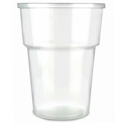 Clear Strong Plastic Pint / Half 1/2 Disposable Beer Glasses Cups Tumblers 4