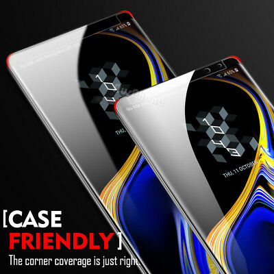 Galaxy S8 S9 Plus Note 9 8 6D Full Cover Tempered Glass Screen Protector Samsung 9