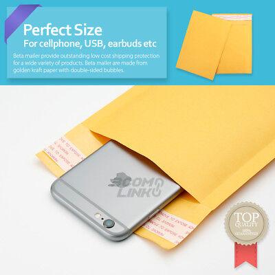 4x7 (4x6) inch Kraft Self Seal Bubble Mailer Padded Envelope #0000 25,50,100,500 5
