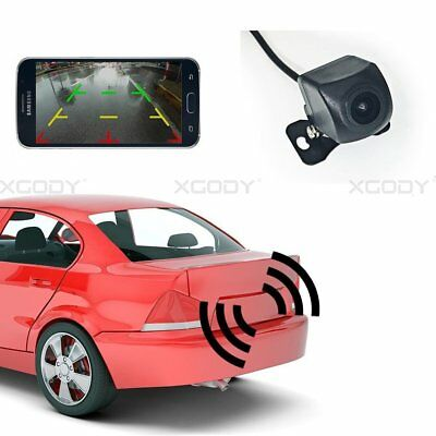 150°WiFi Wireless Car Rear View Cam Backup Reverse Camera For iPhone Android ios 7