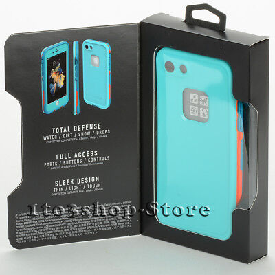 sports shoes 50edc 8c31b LIFEPROOF FRE IPHONE 7 iPhone 8 Waterproof Hard Case Sunset Bay Teal Blue  Mango