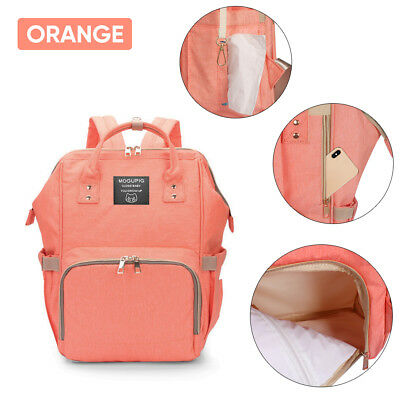 Luxury Multifunctional Baby Diaper Nappy Backpack Waterproof Mummy Changing Bag 6