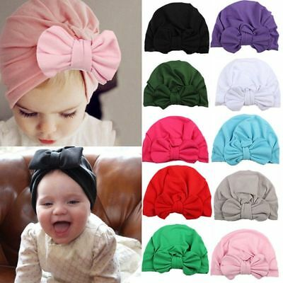 Baby Toddler Girls Kids Bunny Rabbit Bow Knot Turban Headband Hair Band Headwrap 7