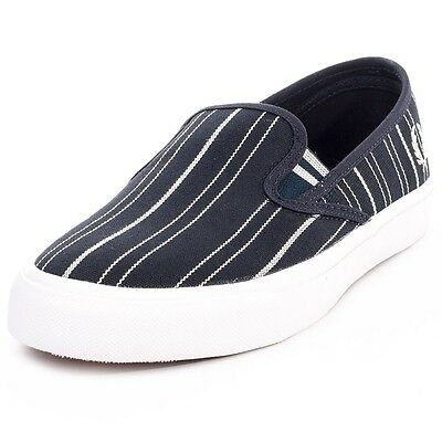 Ecru Fred Perry Turner Slip on Retro Stripe Men/'s Trainers Plimsolls B8252-560