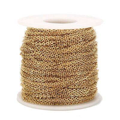 2MM Stainless Steel Cable Chain Link in Bulk for Necklace Jewelry Accessories 2