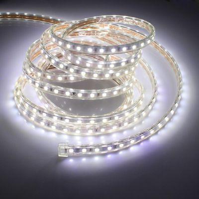 1-20M 5050 SMD LED Strip Lichtleiste Lichtband Licht Schlauch Streifen Weiß 230V