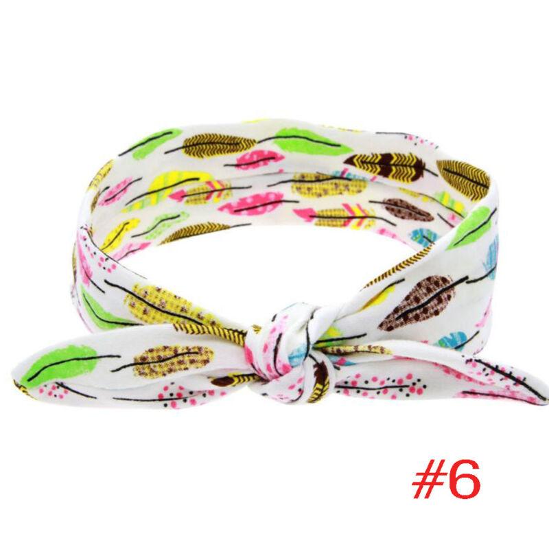 1PC Baby Girl Child Toddler Infant Rabbit Ear Feather Arrow Cotton Headband E 3