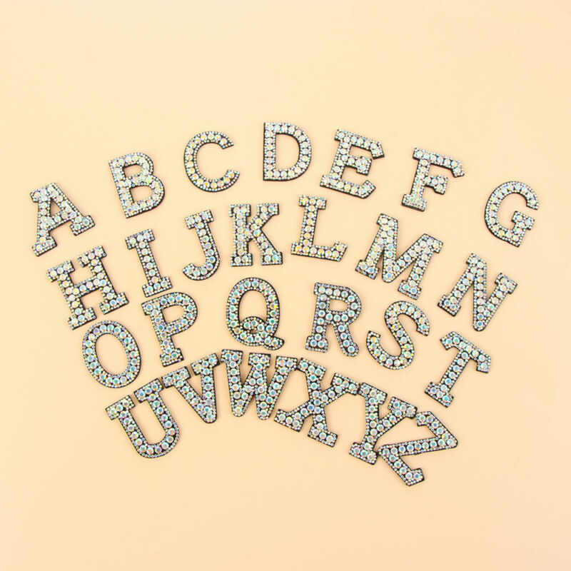 Color Alphabet Letter Patch Embroidered Sew Iron on Badge Patches Applique DIY 11