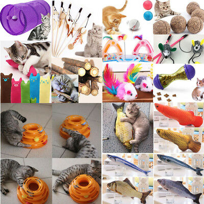 Kitten Pet Cat Ball Chew Catnip Toys Play Interactive Funny Game Mouse Toy Lot 2