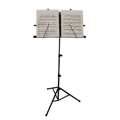 Metal Adjustable Sheet Music Stand Holder Folding Foldable WITH CARRY CASE BAG 2