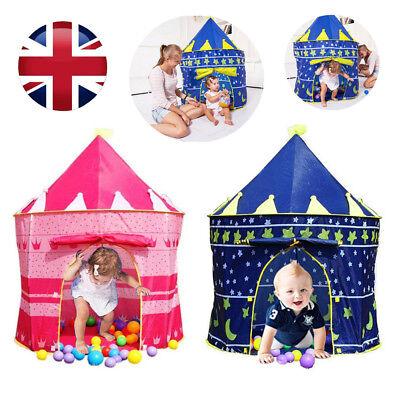 Children Kids Baby Pop Up Play Tent Boys Playhouse Indoor Outdoor Game Castle UK 2