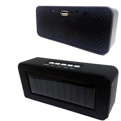 Cassa Speaker Ch-303C Bluetooth Portatile Ricarica Solare Microsd Usb Fm Aux 4