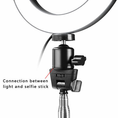 Studio LED Ring Light w/ Tripod Stand Dimmable Photo Video Lamp Kit For Camera 7