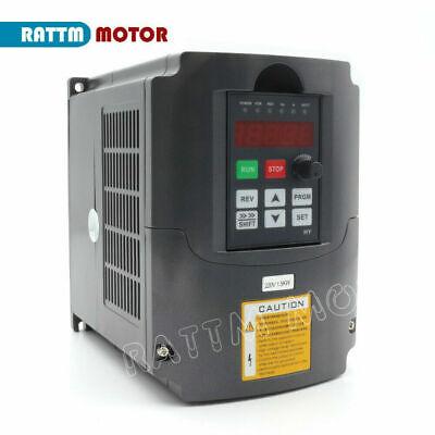 〖FR〗1.5KW Air cooled Spindle Motor ER16 220V& 1.5KW Inverter VFD& 80mm Clamp CNC 5