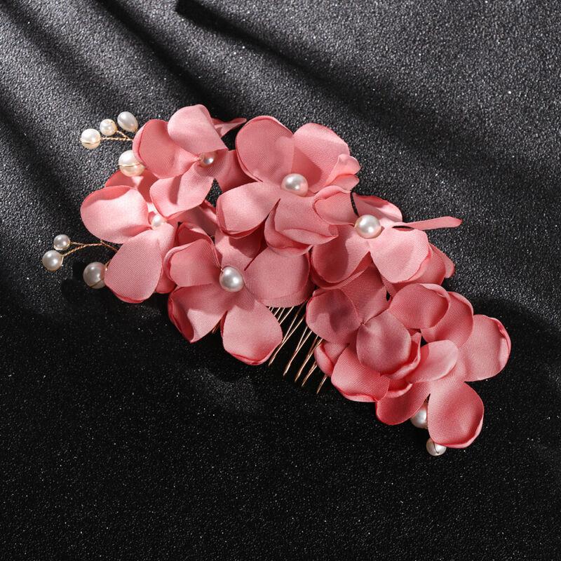 Bridal Wedding Fashion Pearls Flower Hair Barrette Clip Hairpin Accessories Gift 9