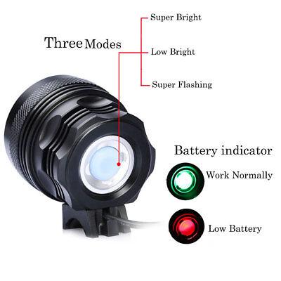 Super brillant CREE 35000LM T6 LED Lampe de vélo  Phare Lampe frontale Torche FR 2