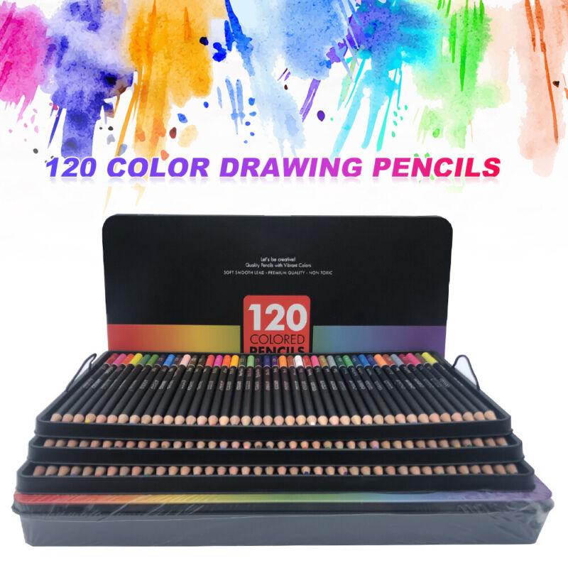 120tlg Aquarell Buntstifte Künstler Etui Bleistifte Aquarellfarbstifte Bleistift 2