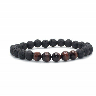 8mm Beads Natural Aromatherapy Lava Stone Healing Bracelet For Men Women Jewelry 6